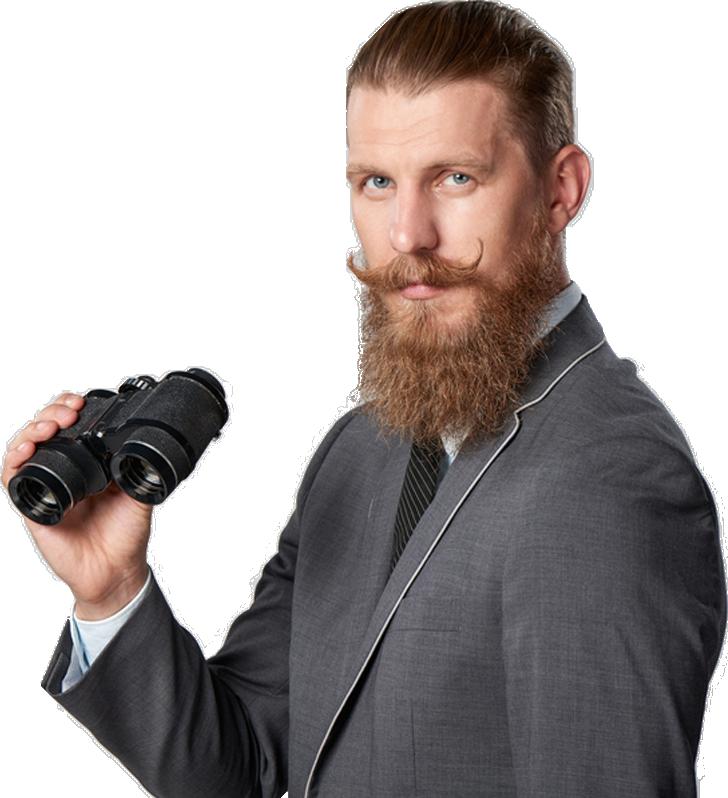 man with telescope
